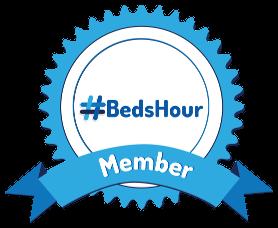 Bedford, Bedfordshire Twitter hour community member rosette